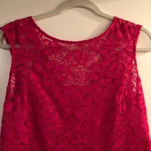Calvin Klein NWOT pink lace size 10